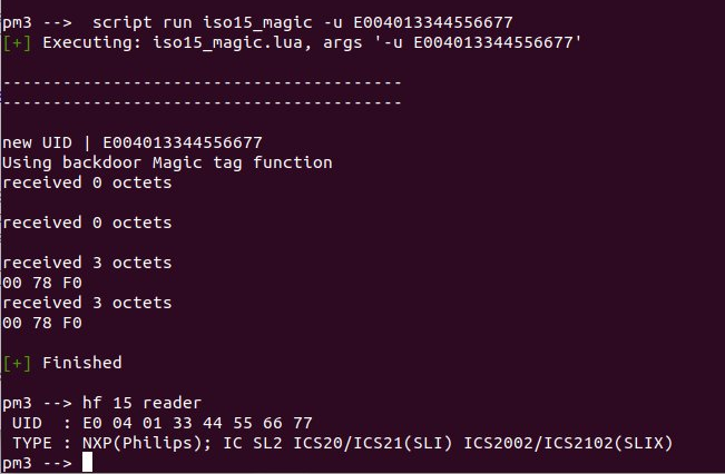 magic iso15693 uid